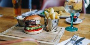 Delicious British beef burger