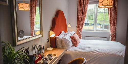 the stag on the river hotel room